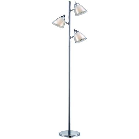 Lite Source Salika Ii White 3-Light Floor Lamp
