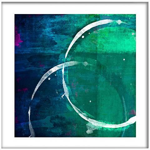 "White Circles I 21 1/2"" Square Framed Giclee Wall Art"