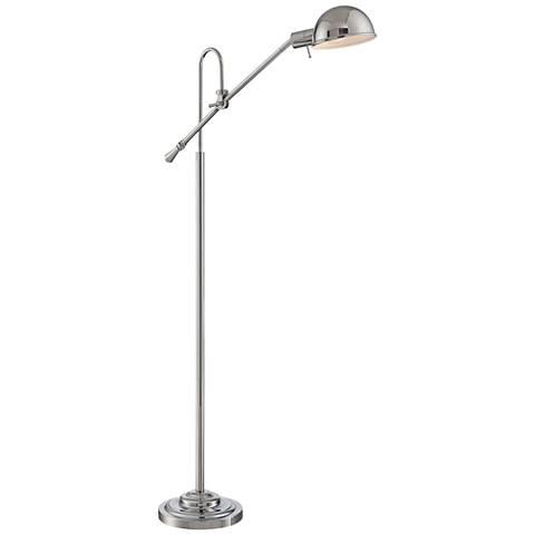 Lite Source Tadeo Chrome Adjustable Pharmacy Floor Lamp