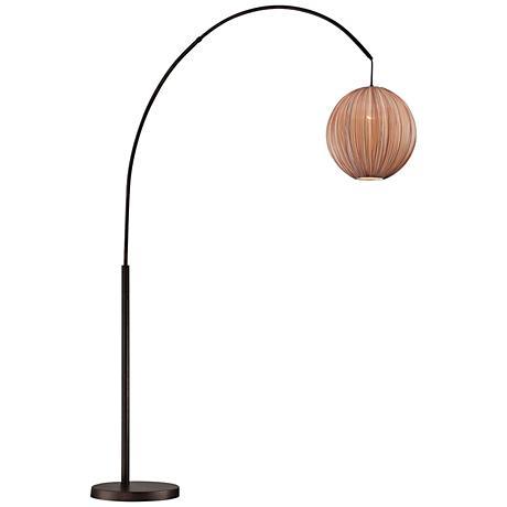 Lite Source Kaden Copper Bronze Arch Floor Lamp