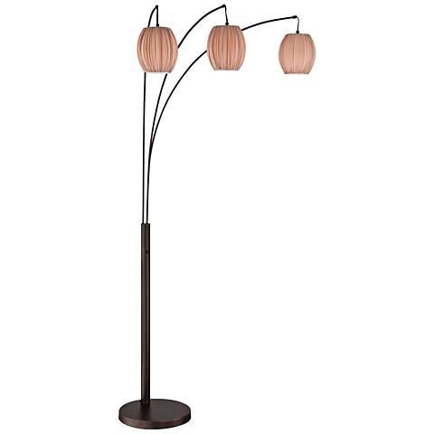 Lite Source Kaden Copper Bronze 3-Light Arch Floor Lamp
