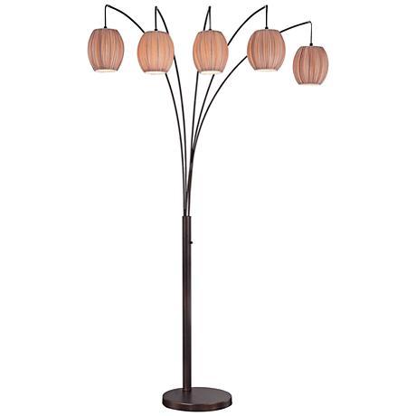 Lite Source Kaden Copper Bronze 5-Light Arch Floor Lamp