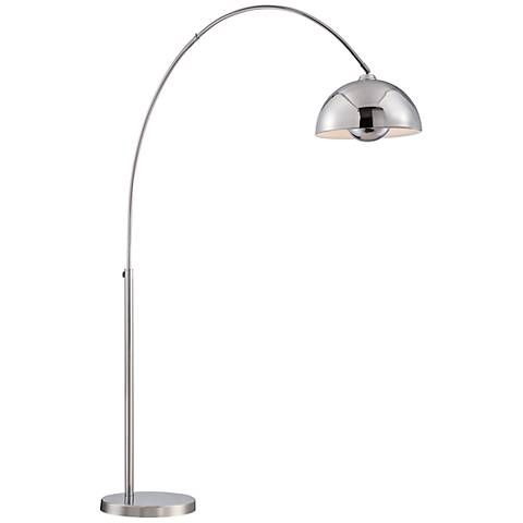 Lite Source Romeo Chrome Adjustable Arch Floor Lamp