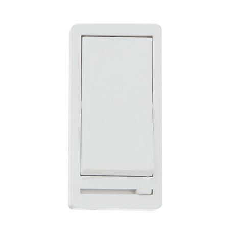 White Incandescent/CFL/LED On/Off Rocker Switch with Dimmer