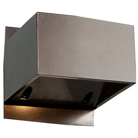 "Square 3"" High Small Bronze Outdoor LED Wall Light"