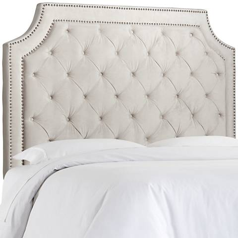 Audrey Cosmo Stone Upholstered Queen Headboard