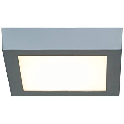 "Strike 7""W Silver Low-Profile Square LED Ceiling Light"