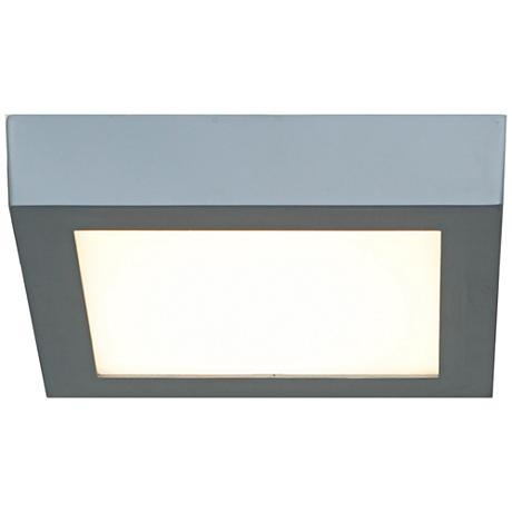 """Strike 7""""W Silver Low-Profile Square LED Ceiling Light"""