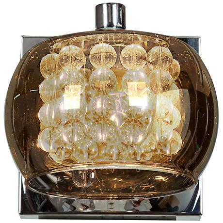"Glam Chrome 4 3/4"" High 1-Light Mirror Glass Wall Sconce"