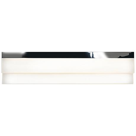 "Linear Chrome 18 1/4""W Small White Acrylic LED Bath Light"
