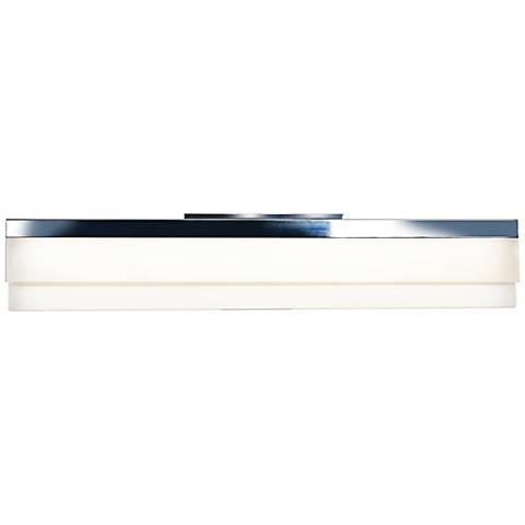 """Linear Chrome 24""""W Medium White Acrylic LED Bath Light"""