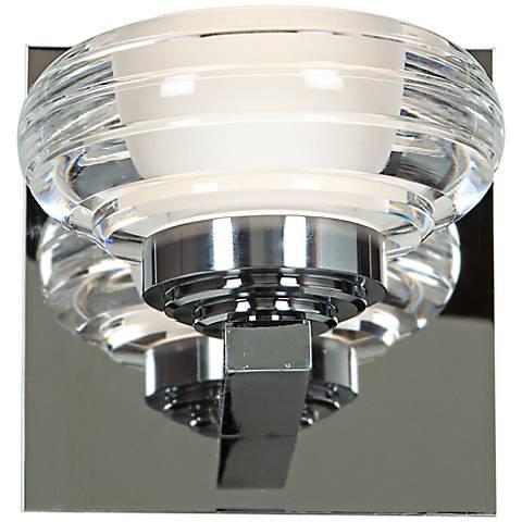 "Optix Acrylic 4 3/4"" High 1-Light LED Chrome Wall Sconce"