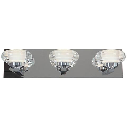 "Optix Acrylic 19"" Wide 3-Light LED Chrome Bath Light"