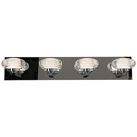 "Optix Acrylic 26"" Wide 4-Light LED Chrome Bath Light"