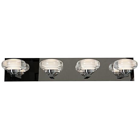 "Optix Acrylic 26"" Wide 4-Light LED Chrome Bath Light"