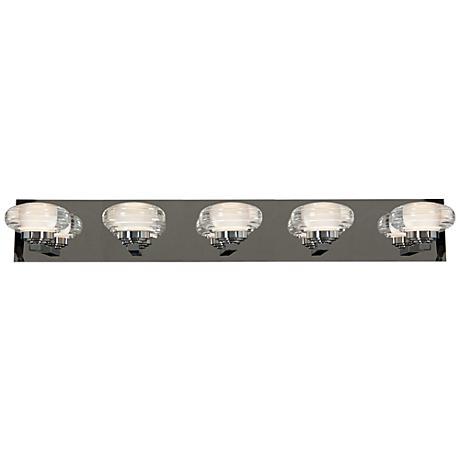 "Optix Acrylic 33"" Wide 5-Light LED Chrome Bath Light"