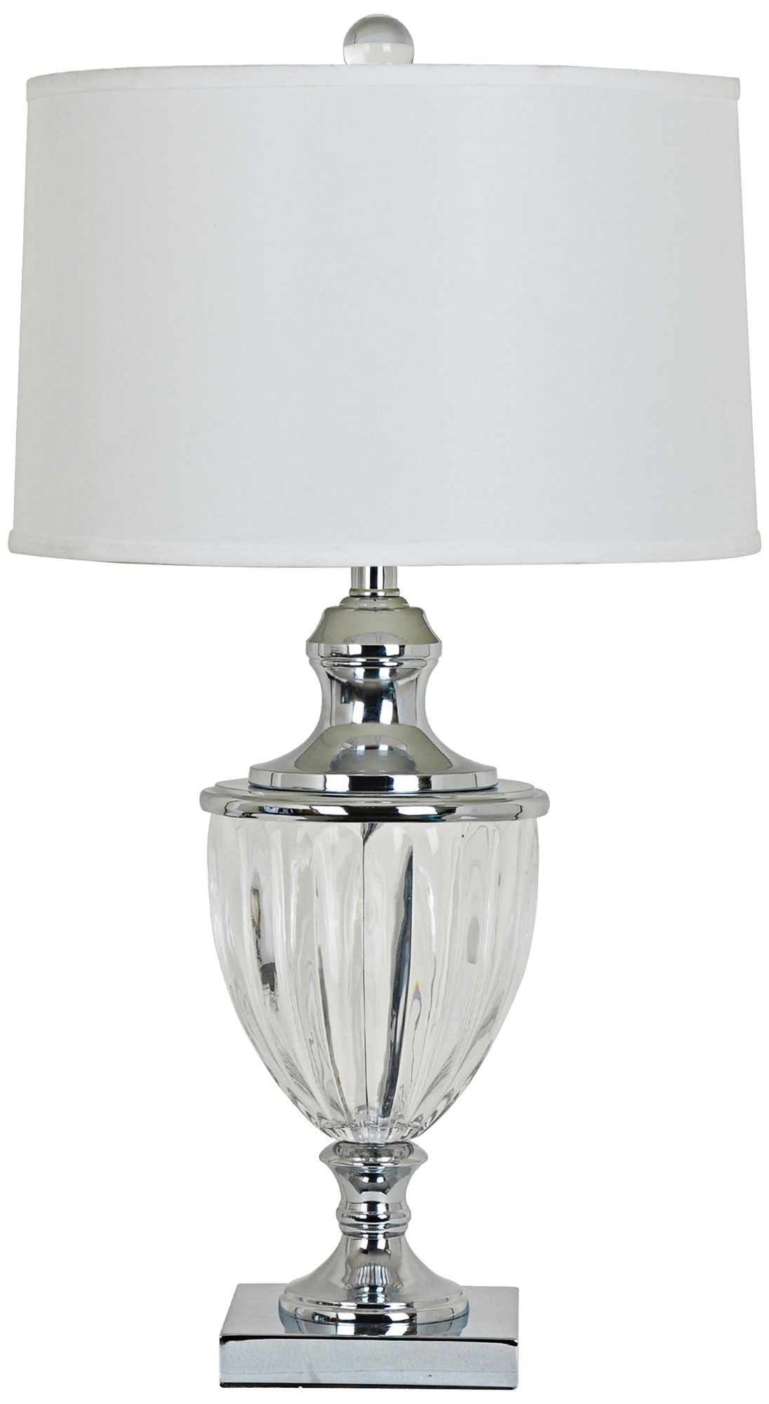 Crestview Collection Carlton Nickel Urn Table Lamp