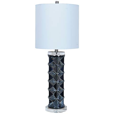 Crestview Collection Dimensions Gunmetal Table Lamp