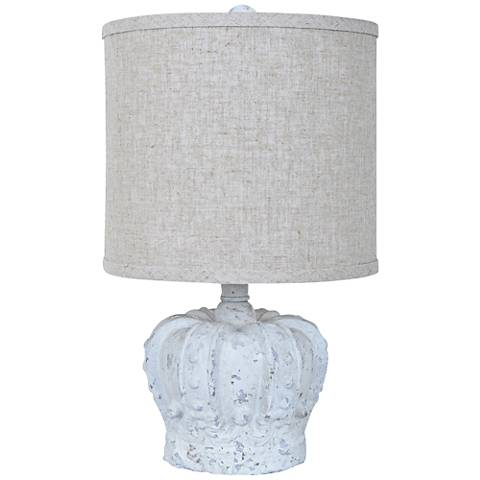 Crestview Collection Gypsy Crown White Wash Table Lamp
