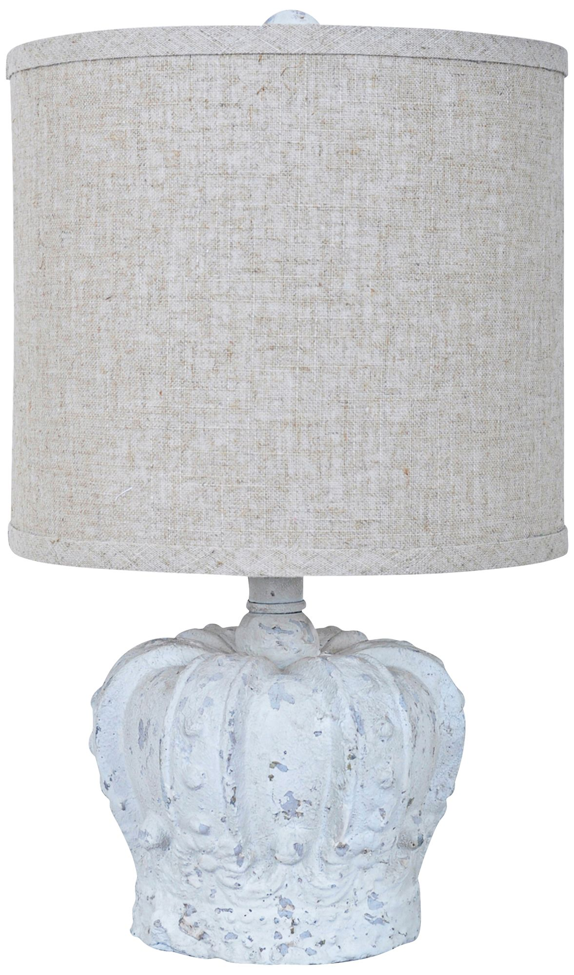 Delightful Crestview Collection Gypsy Crown White Wash Table Lamp