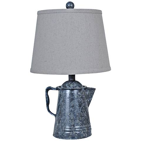 Crestview Collection Java Antique Coffee Pot Table Lamp