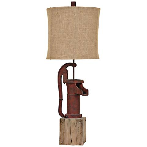Crestview Collection Antique Water Pump Table Lamp