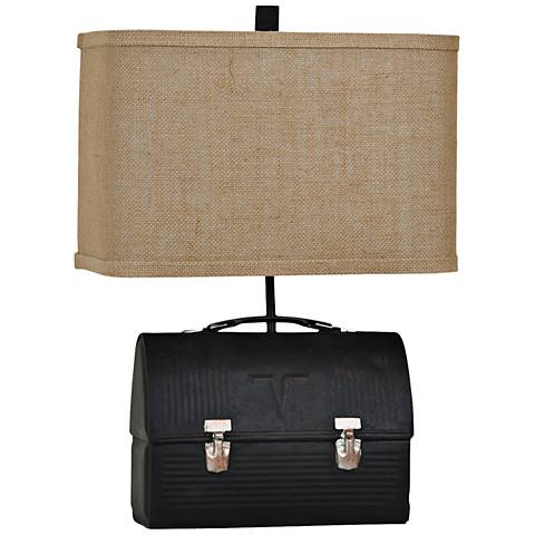 Crestview Collection Lunch Box Antique Black Table Lamp