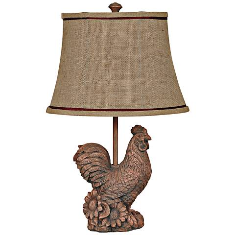Crestview Collection Sunrise Rust Rooster Table Lamp