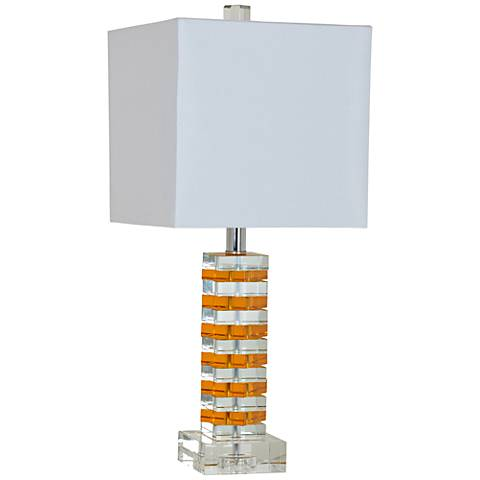 Crestview Collection Jill Orange and Crystal Table Lamp