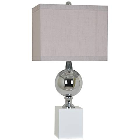 Crestview Collection Palladium Shiny Nickel Metal Table Lamp