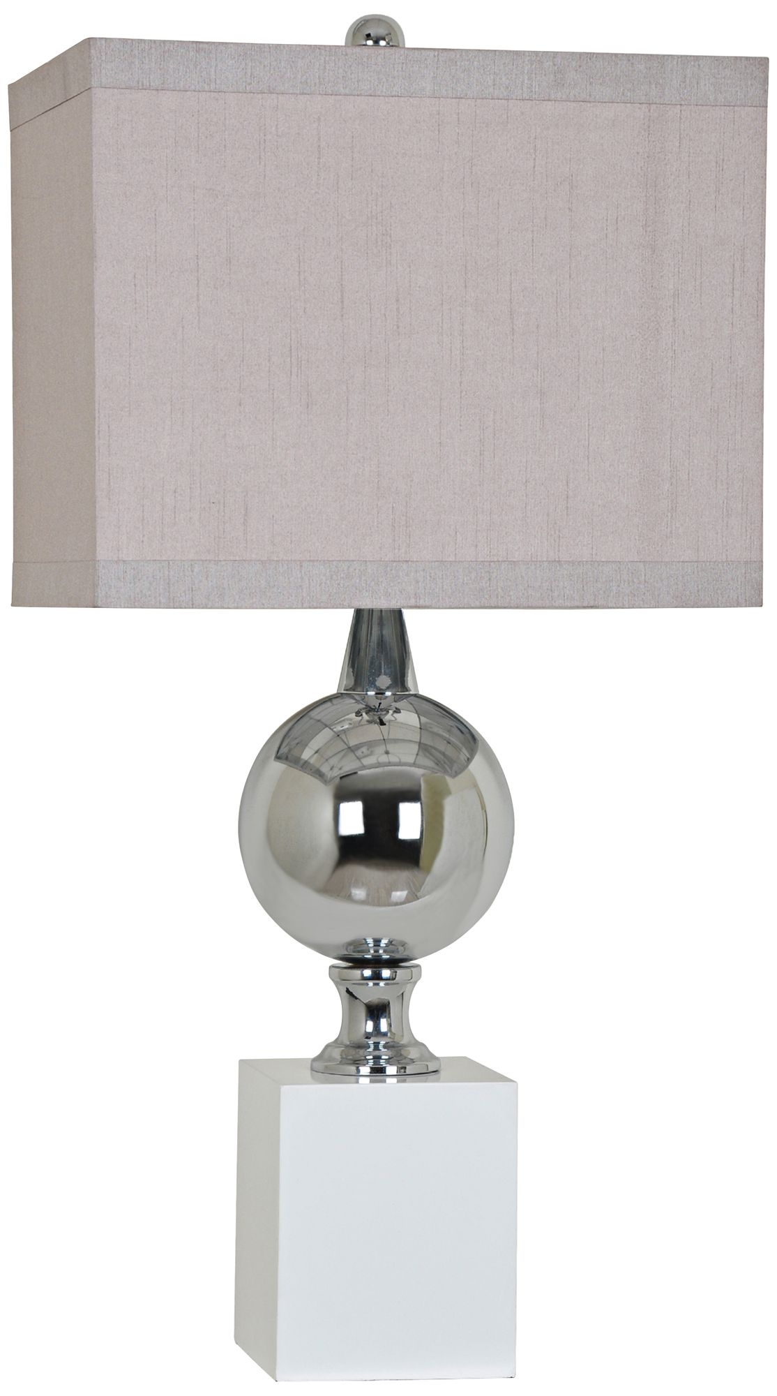 Crestview Collection Palladium Shiny Nickel Metal Table Lamp