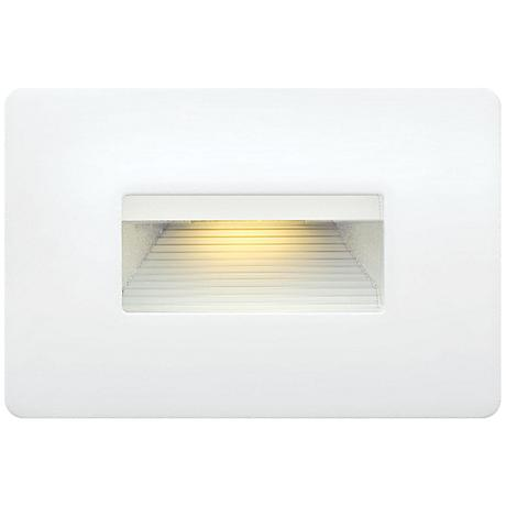 Hinkley Luna Low Voltage Satin White Step Light