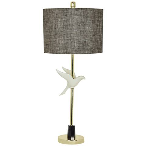 Crestview Collection In Flight Off-White Table Lamp