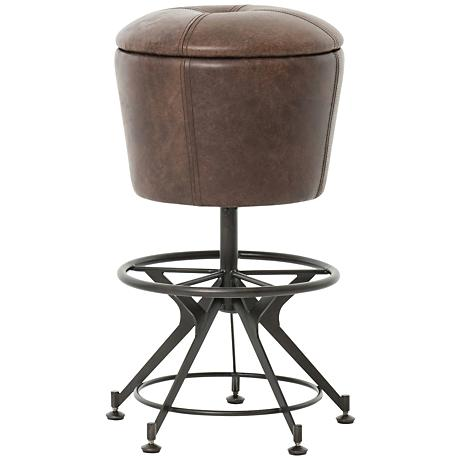 "Giles 26"" Havana Top Grain Leather Upholstered Counter Stool"