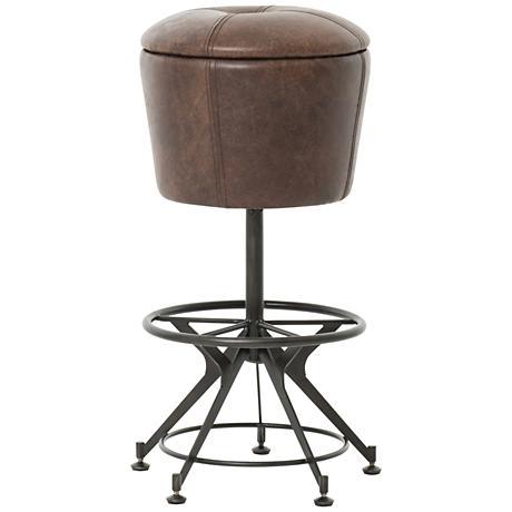 "Giles 30"" Havana Top Grain Leather Upholstered Barstool"