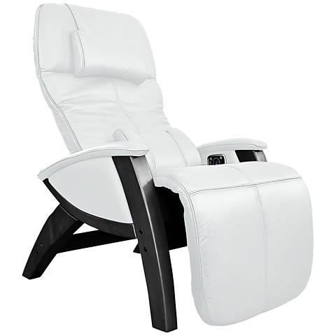 Svago Lusso Ivory and Black Zero Gravity Massage Chair