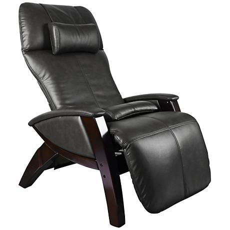 Svago Lusso Black and Walnut Zero Gravity Massage Chair