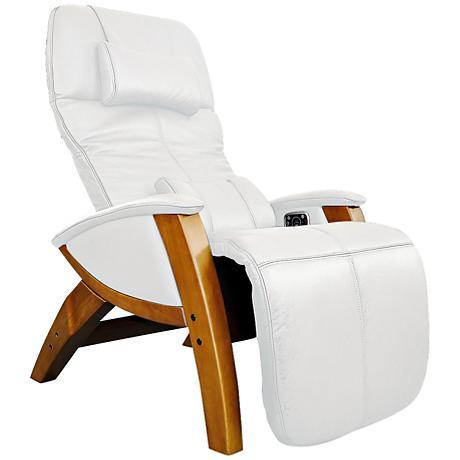 Svago Lusso Ivory and Honey Zero Gravity Massage Chair