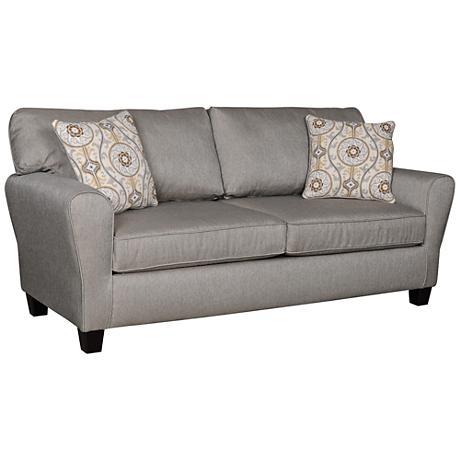 Sofab Brooke Fabric Upholstered Medium Dove Gray Sofa