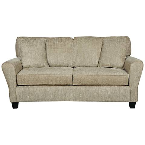 Sofab Angel II Upholstered Pewter Chenille Loveseat
