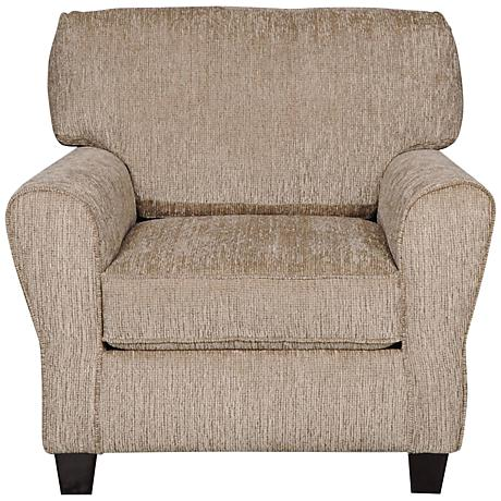 Sofab Angel II Upholstered Pewter Chenille Armchair