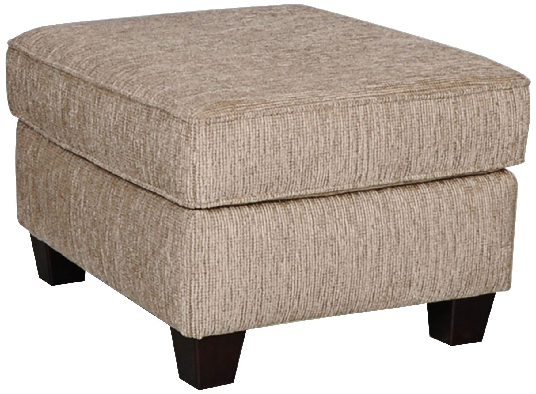 sofab angel ii upholstered pewter chenille ottoman - Upholstered Ottoman