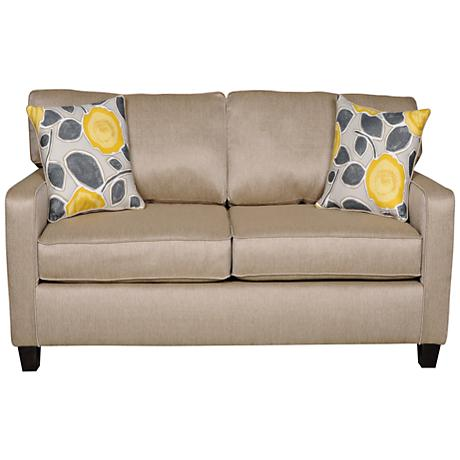 Sofab Darcey All-Occasion Cushioned Beige Fabric Loveseat