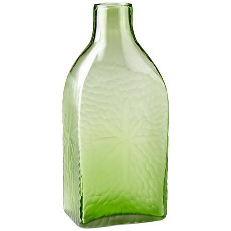 "Marine Green 14 1/2"" High Decorative Glass Vase"