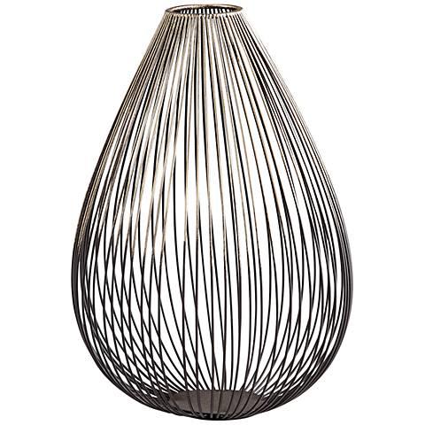 "Pagoda Graphite Iron 10 1/2"" High Decorative Vase"