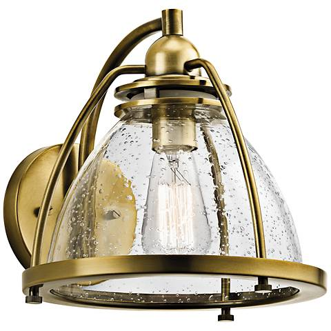 "Kichler Silberne 10"" High Brass 1-Light Wall Sconce"