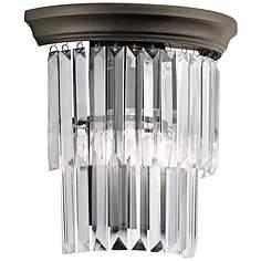 bronze, crystal, bathroom lighting  lamps plus, Home decor