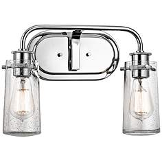 Kichler Braelyn 2 Light 15 Wide Seedy Glass Bath Light