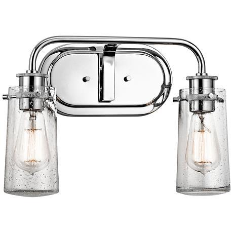"Kichler Braelyn 2-Light 15"" Wide Seedy Glass Bath Light"