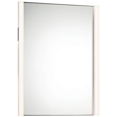 "Sonneman Slim 27""x36 1/4"" Mirror with 2-LED Lights"